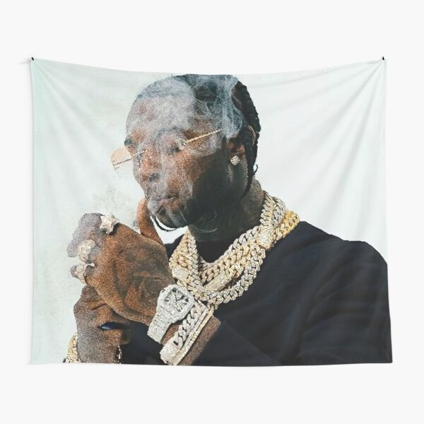 Smoking Diamond Smoke Art Tapestry RB2805 product Offical Pop Smoke Merch