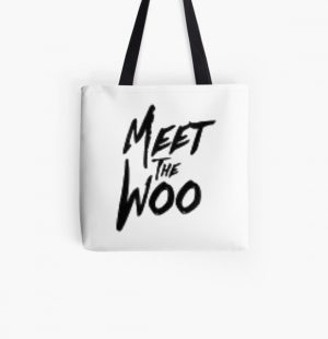 the woo All Over Print Tote Bag RB2805 product Offical Pop Smoke Merch