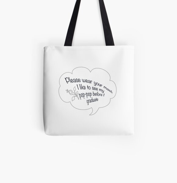 i like to see my pop pop black All Over Print Tote Bag RB2805 product Offical Pop Smoke Merch
