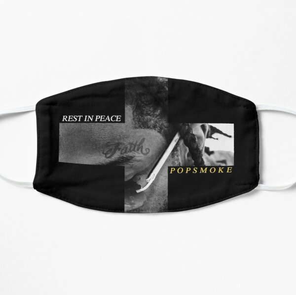 RIP Pop Smoke Flat Mask RB2805 product Offical Pop Smoke Merch